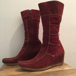1970s Vintage Suede Boots